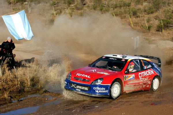 2004 FIA World Rally Championship, Round 8Rally Argentina. 15th-18th July 2004Sebastien Loeb, Citreon, ActionWorld Copyright: McKlein/LAT Photographic