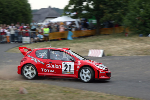 2003 FIA World Rally Champs. Round eight, Deutschland Rally24th-27th July 2003.Cedric Robert, Peugeot, action. World Copyright: McKlein/LAT