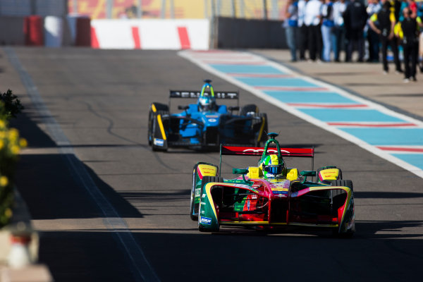 2016/2017 FIA Formula E Championship. Marrakesh ePrix, Circuit International Automobile Moulay El Hassan, Marrakesh, Morocco. Lucas Di Grassi (BRA), ABT Schaeffler Audi Sport, Spark-Abt Sportsline, ABT Schaeffler FE02.  Friday 11 November 2016. Photo: Sam Bloxham/LAT/Formula E ref: Digital Image _SLA6713