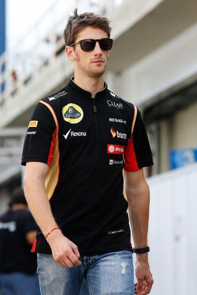 Interlagos, Sao Paulo, Brazil. Friday 7 November 2014. Romain Grosjean, Lotus F1. World Copyright: Charles Coates/LAT Photographic. ref: Digital Image _J5R3028