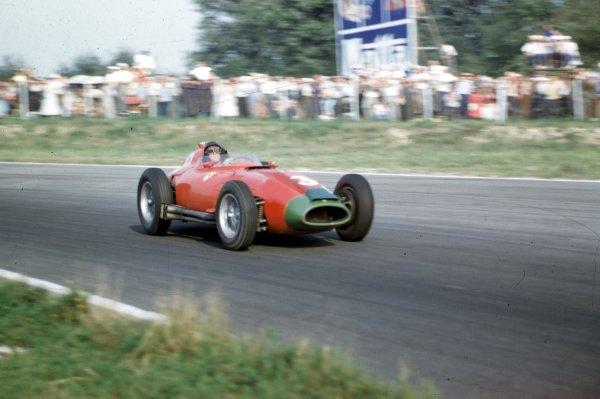 1957 Italian Grand Prix.Monza, Italy.6-8 September 1957.Peter Collins (Lancia-Ferrari D50 801).Ref-57 ITA 19.World Copyright - LAT Photographic