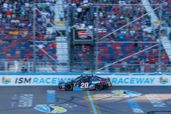 #20: Christopher Bell, Joe Gibbs Racing, Toyota Camry GameStop Just Cause 4 checkered flag