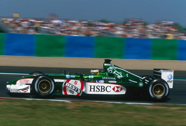 2002 French Grand Prix.Magny-Cours, France. 19-21 July 2002.Pedro de la Rosa (Jaguar R3B). Ref-02 FRA 49.World Copyright - Charles Coates/LAT Photographic
