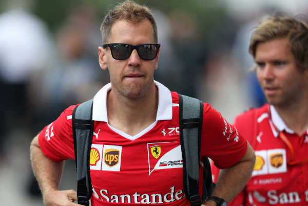 Sebastian Vettel (GER) Ferrari at Formula One World Championship, Rd17, United States Grand Prix, Practice, Circuit of the Americas, Austin, Texas, USA, Friday 20 October 2017.