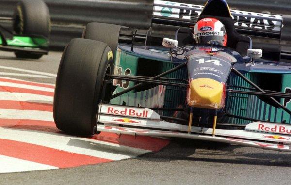 Monaco Grand Prix.Monte Carlo, Monaco.16-19 May 1996Johnny Herbert (Sauber C15 Ford) 3rd position.World Copyrighjt - LAT Photographic