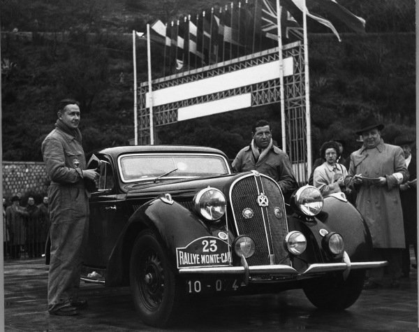 Monte Carlo, Monaco. 22nd January - 29th January 1950.Marcel Becquart / H Secret ( Hotchkiss 3435), 1st position, action.World Copyright: LAT Photographic.Ref: Autocar Used Pic 3rd February 1950 Pg122.