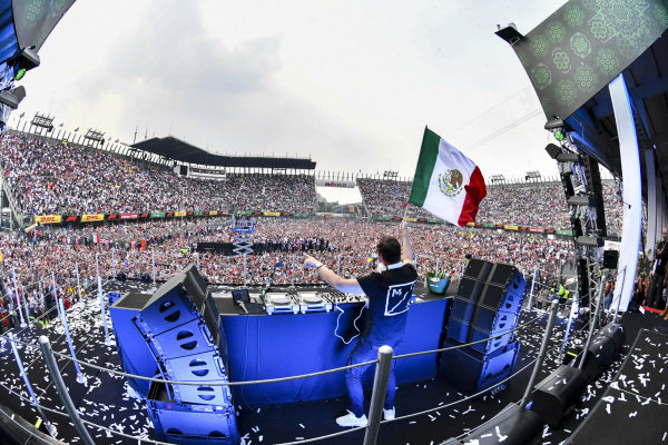 Dj Tiesto on the podium