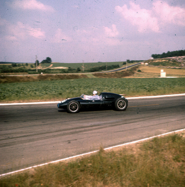 1958 French Grand Prix.Reims, France.4-6 July 1958.Jack Brabham (Cooper T45 Climax) 6th position.Ref-3/0078.World Copyright - LAT Photographic