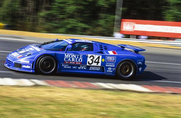 Alain Cudini / Eric Hélary / Jean-Christophe Boullion, Michel Hommel, Bugatti EB110 Supersport.