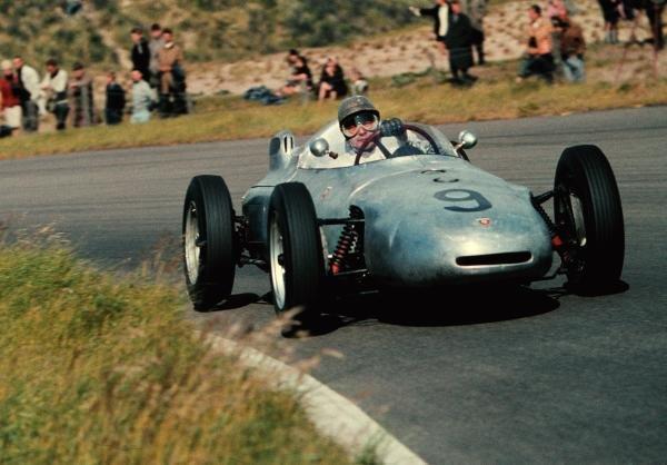 Hans Herrmann(GER) Porsche 718, finished in 15th place Dutch GP, Zandvoort, 22 May 1961