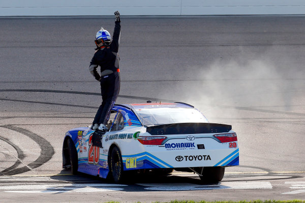 NASCAR XFINITY Series U.S. Cellular 250 Iowa Speedway, Newton, IA USA Saturday 29 July 2017 Ryan Preece, MoHawk Northeast Inc. Toyota Camry celebrates his win  World Copyright: Russell LaBounty LAT Images