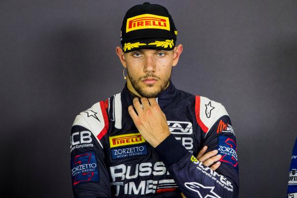 2017 FIA Formula 2 Round 6. Silverstone, Northamptonshire, UK. Sunday 16 July 2017. Luca Ghiotto (ITA, RUSSIAN TIME).  Photo: Zak Mauger/FIA Formula 2. ref: Digital Image _56I0851