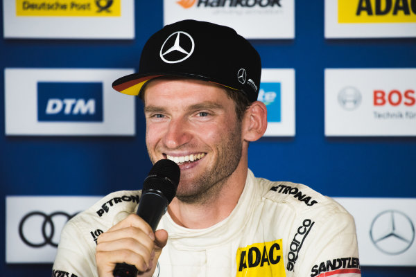 2017 DTM Round 5 Moscow Raceway, Moscow, Russia Sunday 23 July 2017. Press Conference: Maro Engel, Mercedes-AMG Team HWA, Mercedes-AMG C63 DTM World Copyright: Evgeniy Safronov/LAT Images ref: Digital Image SafronovEvgeniy_2017_DTM_MRW_San-208