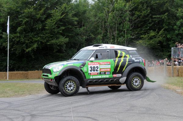 2017 Goodwood Festival of Speed Goodwood Estate, West Sussex,England 30th June - 2nd July2017 Mini Countryman  R60 Dakar Mikko Hirvonen World Copyright : Jeff Bloxham/LAT Images Ref : Digital Image