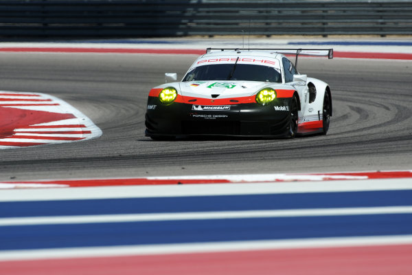2017 FIA World Endurance Championship, COTA, Austin, Texas, USA. 14th-16th September 2017, #92 Porsche GT Team Porsche 911 RSR: Michael Christensen, Kevin Estre  World Copyright. May/JEP/LAT Images