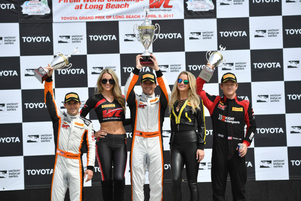 2017 Pirelli World Challenge Toyota Grand Prix of Long Beach Streets of Long Beach, CA USA Sunday 9 April 2017 Alvaro Parente, Bryan Sellers, Patrick Long World Copyright: Richard Dole/LAT Images ref: Digital Image RD_LB17_487