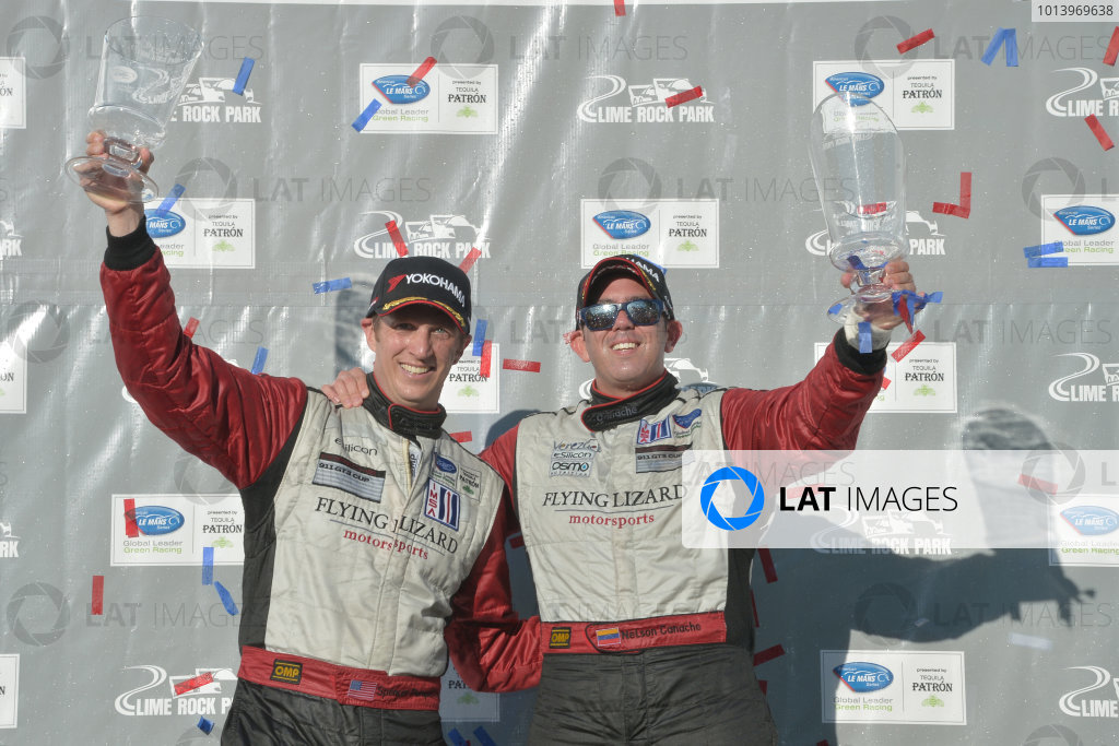 5-6 July, 2013, Lakeville, Connecticut USA.#45 Flying Lizard Motorsport's Spencer pumpelly and Nelson Canache, GTC class winners ©2013, Dan R. Boyd, LAT Photo USA