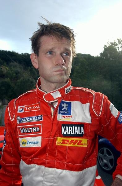 Marcus Gronholm (FIN), Peugeot.World Rally Championship, Rd12, Tour de Corse, Corsica, France. Day one, 17 October 2003.DIGITAL IMAGE