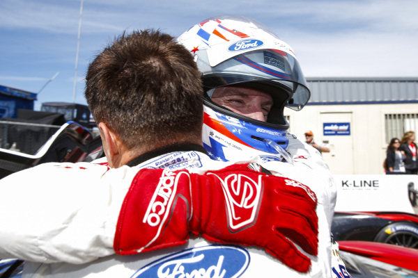 #66 Ford Chip Ganassi Racing Ford GT, GTLM: Joey Hand, Dirk Mueller, Celebrating GTLM Victory