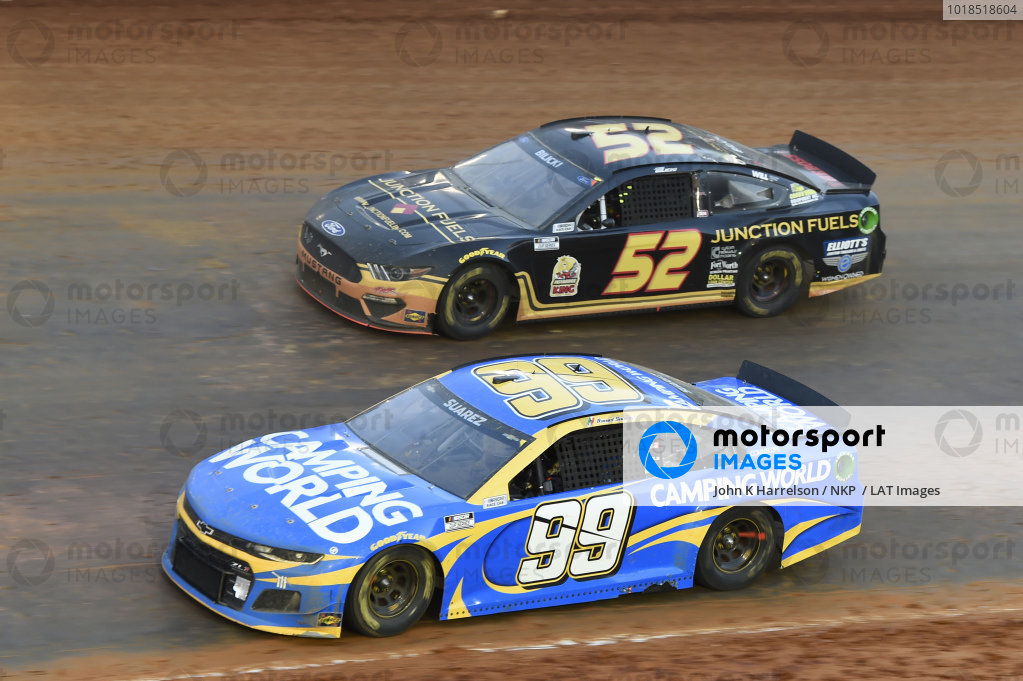 #99: Daniel Suarez, TrackHouse Racing, Chevrolet Camaro Camping World, #52: Josh Bilicki, Rick Ware Racing, Ford Mustang