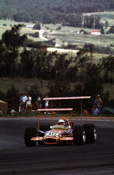 1969 South African Grand Prix.Kyalami, South Africa.27/2-1/3 1969 .John Love (Lotus 49 Ford).Ref-69 SA 48.World Copyright - LAT Photographic