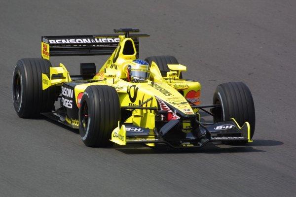 2001 Hungarian Grand Prix -Friday PracticeHungaroring, Budapest, Hunagry. 17th August 2001Jean Alesi, Jordan Honda EJ11, action.World Copyright - LAT Photographicref: 8 9 MB Digital File Only