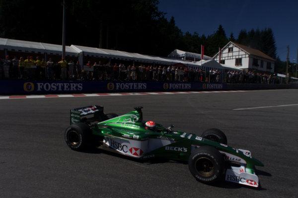 2000 Belgian Grand Prix.Spa-Francorchamps, Belgium. 25-27 August 2000.Johnny Herbert (Jaguar R1) 8th position.World Copyright - LAT Photographicref: 5 7mb DIGITAL