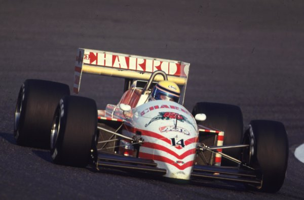 1987 Japanese Grand Prix.Suzuka, Japan.29/10-1/11 1987.Roberto Moreno (AGS JH22 Ford).World Copyright - LAT Photographic
