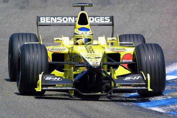 Jarno Trulli(ITA) Jordan Honda EJ11 German Grand Prix Practice, Hockenheim 27 July 2001 DIGITAL IMAGE