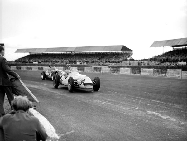 Silverstone, England.17-19 July 1952.Gino Bianco (Maserati A6GCM) 18th position.Ref-Motor 768/19.World Copyright - LAT Photographic