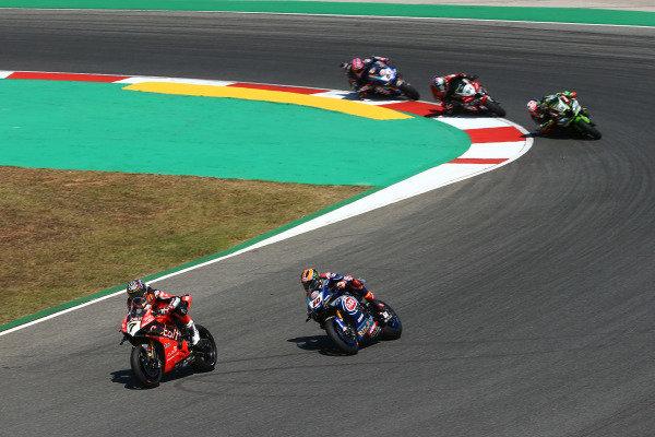 Chaz Davies, Aruba.it Racing-Ducati Team, Michael van der Mark, Pata Yamaha, Leon Haslam, Kawasaki Racing Team.