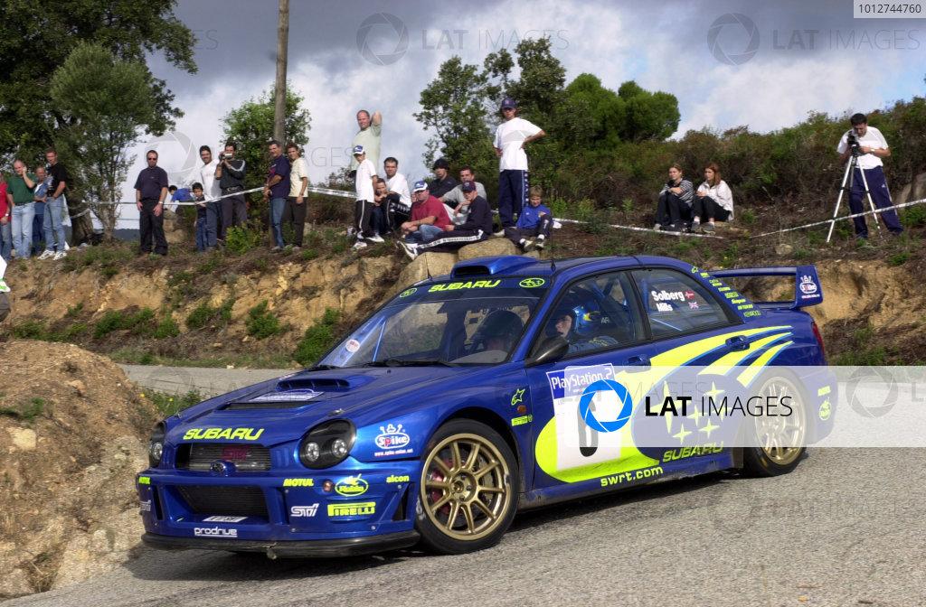 2001 World Rally Championship.Rallye de France, Ajaccio, Corsica, October 19-21.Petter Solberg on stage 13.Photo: Ralph Hardwick/LAT