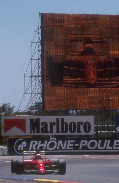 1990 French Grand Prix.Paul Ricard, Le Castellet, France.6-8 July 1990.Alain Prost (Ferrari 641) 1st position.Ref-90 FRA 02.World Copyright - LAT Photographic