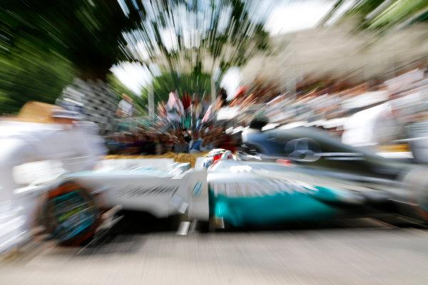 2014 Goodwood Festival of Speed  Goodwood Estate, West Sussex, England. 26th - 29th June 2014.  Sunday 29 June 2014. Lewis Hamilton / Mercedes Benz World Copyright: Adam Warner/LAT Photographic. ref: Digital Image _L5R7795