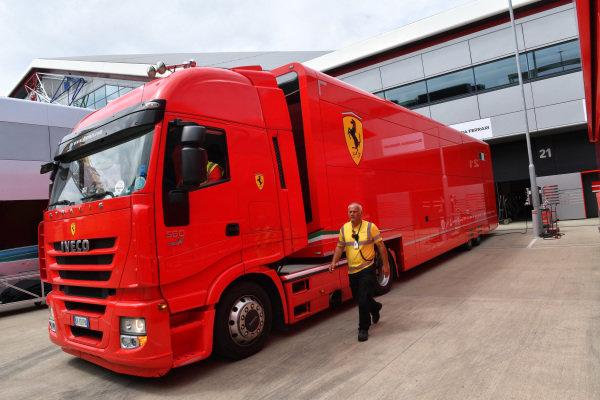 DHL and Ferrari truck