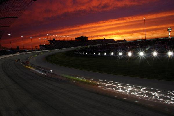 10-12 July, 2008, Joliet, Illinois, USA.Sunset over Chicagoland Speedway.© 2008 Phillip Abbott/USALAT Photographic