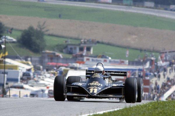 1981 Austrian Grand Prix.Osterreichring, Austria. 14-16 August 1981.Elio de Angelis (Lotus 87-Ford Cosworth), 7th position.World Copyright: LAT PhotographicRef: 35mm transparency 81AUT06