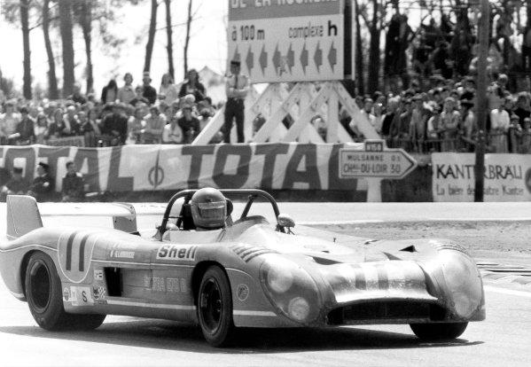 1973 Le Mans 24 hours.Le Mans, France. 9-10 June 1973.Henri Pescarolo/Gerard Larrousse (Matra-Simca MS670B), 1st position.World Copyright: LAT PhotographicRef: black & white