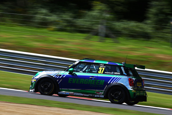 2017 MINI Challenge, Brands Hatch, Kent. 5th - 6th August 2017. Rob Smith MINI JCW. World CopyRright: JEP/LAT Images.