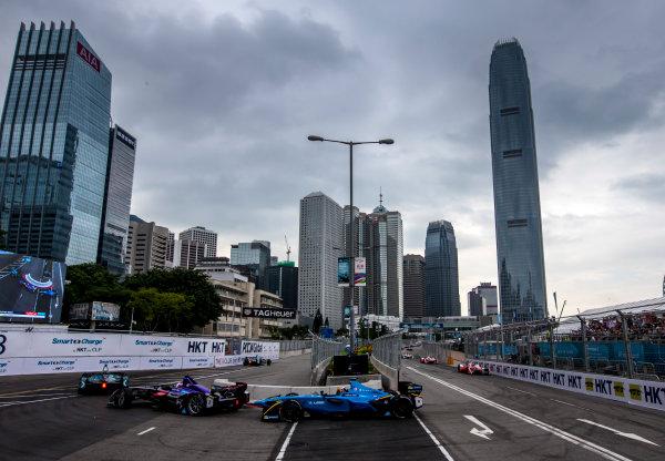 2016/2017 FIA Formula E Championship. Hong Kong ePrix, Hong Kong, China. Sunday 9 October 2016. Sebastien Buemi (SUI), Renault e.Dams, Spark-Renault, Renault Z.E 16.  Photo: Zak Mauger/LAT/Formula E ref: Digital Image _L0U2204