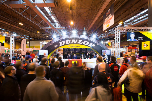 Autosport International Exhibition. National Exhibition Centre, Birmingham, UK. Sunday 11 January 2015. Fans at the Dunlop stage. World Copyright: Malcolm Griffiths/LAT Photographic. ref: Digital Image A50A4193