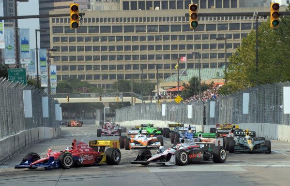 2-4 September, 2011, Baltimore, Maryland USA#10 Target Chip Ganassi Racing's Dario Franchitti and Ryan Briscoe.(c)2011,  Dan R. Boyd  LAT Photo USA