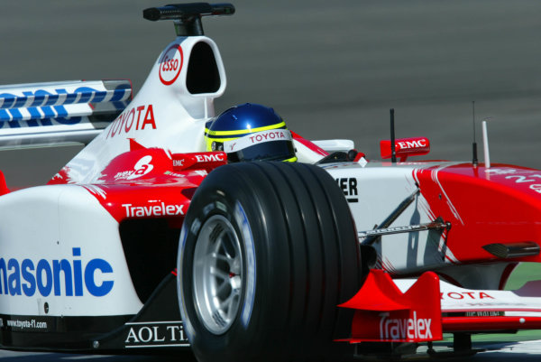 2003 Austrian Grand Prix, Friday Qualifying,A1 Ring, Austria.16th May 2003Cristiano da Matta, Toyota TF103, action.World Copyright LAT Photographic.Digital Image Only.
