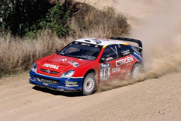 2003 World Rally ChampionshipRally New Zealand. 9th - 13th April 2003.Sebastien Loeb/Daniel Elena (Citroen Xsara), 4th position.World Copyright: LAT Photographicref: 35mm Image A15