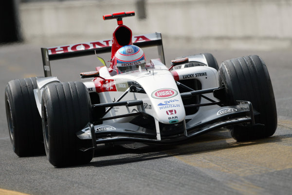2004 Italian Grand Prix - Friday Practice,Monza, Italy. 10th September 2004 Jenson Button, BAR Honda 006, exits the pitlane, action.World Copyright: Steve Etherington/LAT Photographic ref: Digital Image Only