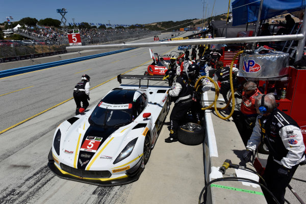 1-3 May, 2015, Monterey, California, USA 5, Chevrolet, Corvette DP, P, Joao Barbosa, Christian Fittipaldi pit stop ©2015 Scott R LePage  LAT Photo USA