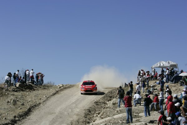 2005 FIA World Rally Championship Round 3, Mexico Rally. 10th - 13th March 2005. Marcus Gronholm,(Peugeot 307 WRC), 2nd position, action. World Copyright: McKlein/LAT Photographic. ref: Digital Image Only.