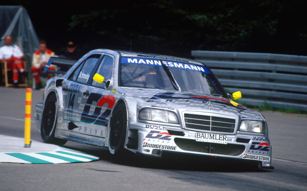 Hockenheim, Germany. 23rd April 1995. Rd 1 & 2.Bernd Schneider (AMG Mercedes C-Class), 1st position, action.World Copyright: Jeff Bloxham/LAT Photographic.
