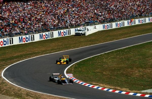 Race winner Alain Prost (FRA) Williams FW15C  wins his fifty-first and final Grand Prix victory.  German Grand Prix, Hockenheim, 25 July 1993.