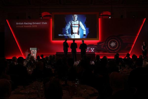 2015 British Racing Drivers Club Awards Grand Connaught Rooms, London Monday 7th December 2015 Will Palmer. World Copyright: Jakob Ebrey/LAT Photographic ref: Digital Image PalmerW-11